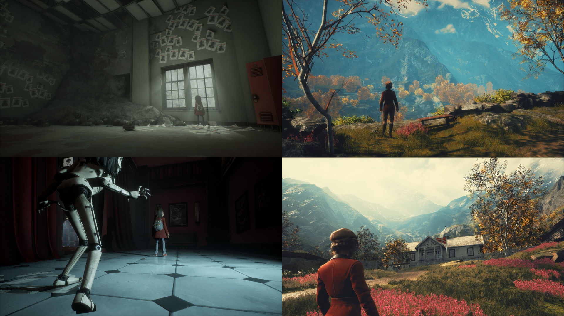 Screenshots of games: left Gylt, right Draugen